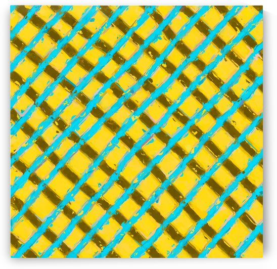line pattern painting abstract background in yellow blue brown by TimmyLA