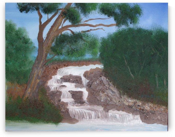 Rocky Waterfall. by Alan Skau