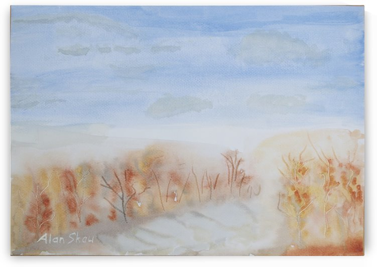 Autumn trees. by Alan Skau