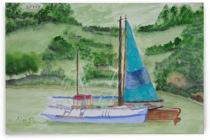 Yachts- Mountain Lake. by Alan Skau