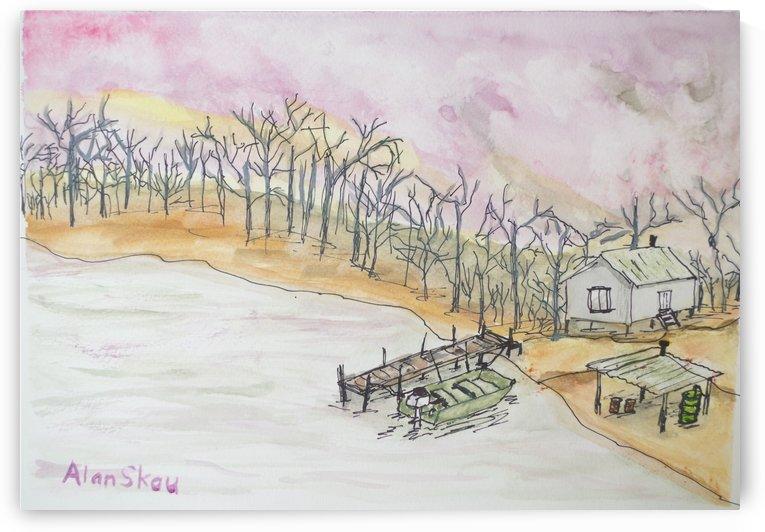 Backwoods Shack. by Alan Skau