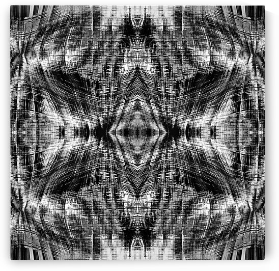 vintage geometric symmetry pattern abstract background in black and white by TimmyLA