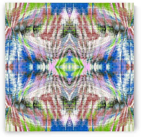 geometric symmetry pattern abstract background in pink blue green brown by TimmyLA