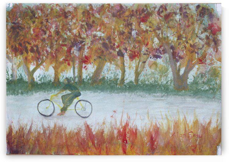 Cycling in the park. by Alan Skau