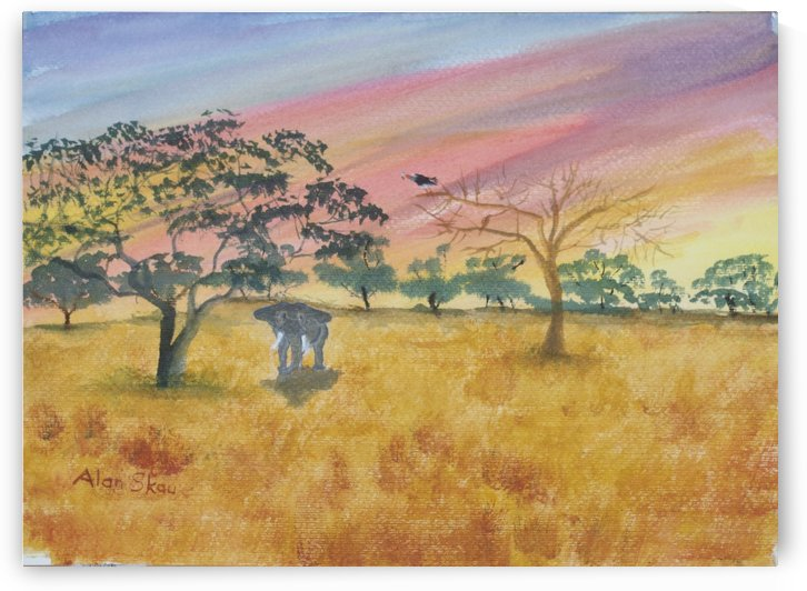 African Sunset. by Alan Skau