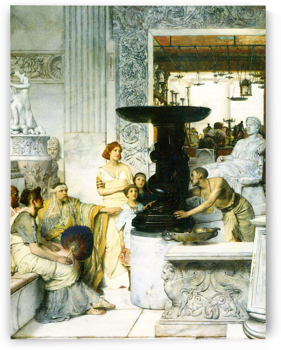 The Sculpture Gallery by Alma-Tadema by Alma-Tadema