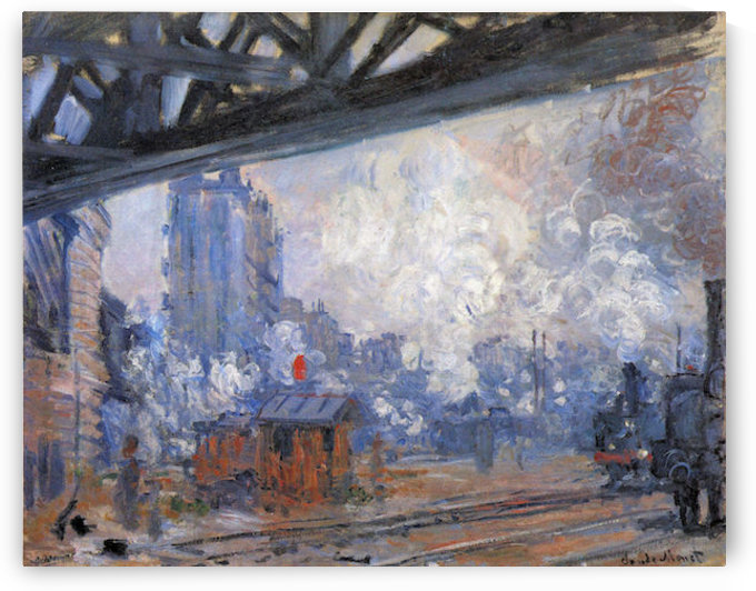 The Gare Saint-Lazare by Monet by Monet