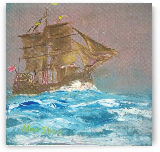 Sailing open water. by Alan Skau