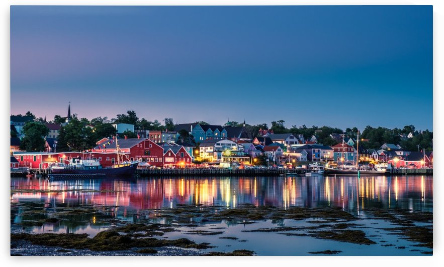 Blue hour at Lunenburg, Nova Scotia by Sebastien Girard