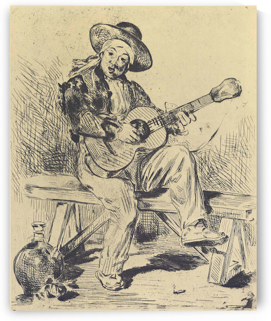 The guitar Player by Manet by Manet