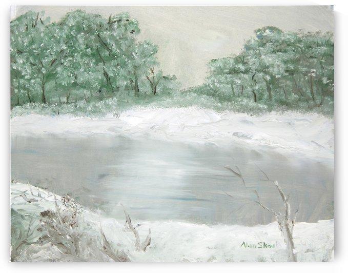 Winter Pond. by Alan Skau