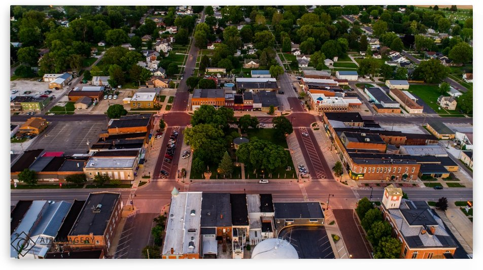 Rushville, IL Square and Town by Jordan Williams of Air Imagery Services