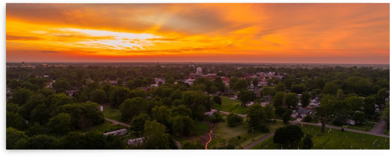 Rushville, IL Sunset by Jordan Williams of Air Imagery Services