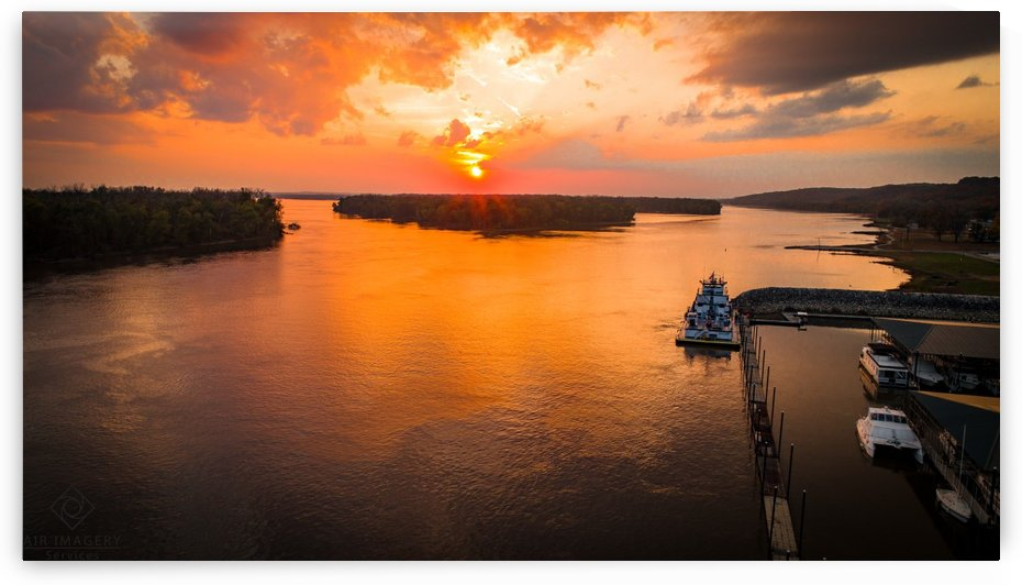 Grafton, IL River Sunset by Jordan Williams of Air Imagery Services