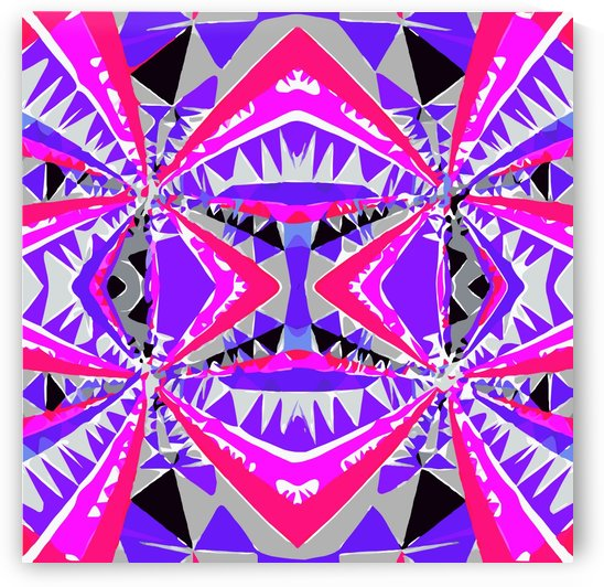 psychedelic geometric abstract pattern background in pink and purple by TimmyLA