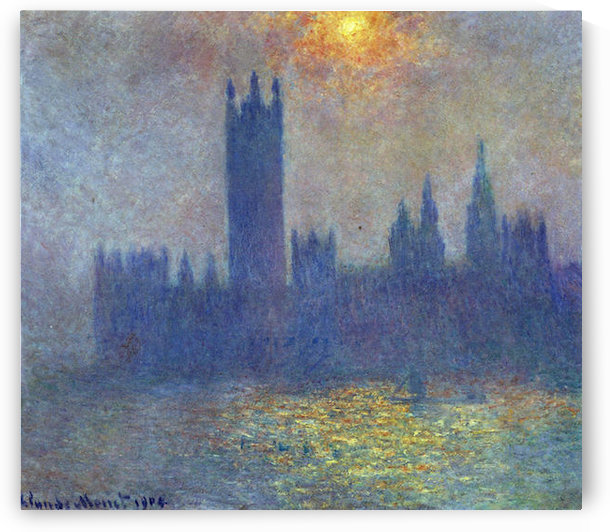 The Houses of Parliament, sunlight in the fog by Monet by Monet