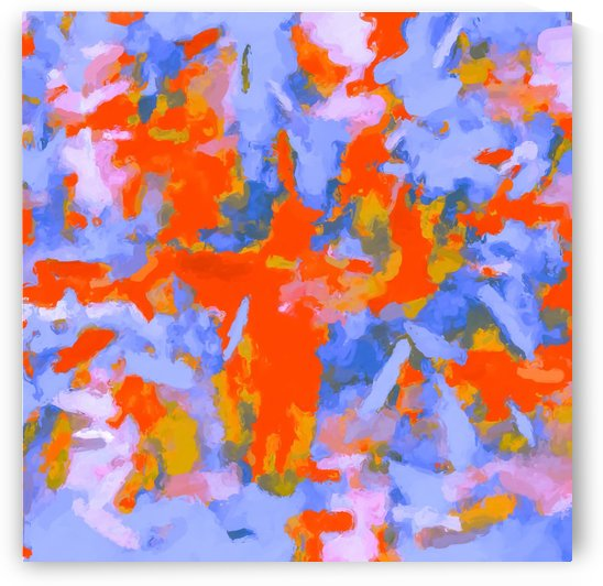 splash painting texture abstract background in red blue orange by TimmyLA