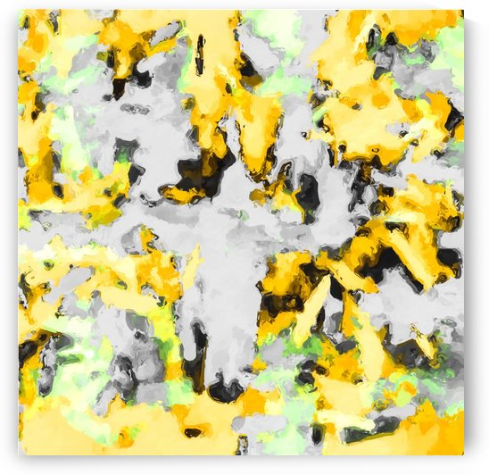 splash painting texture abstract background in yellow black green by TimmyLA