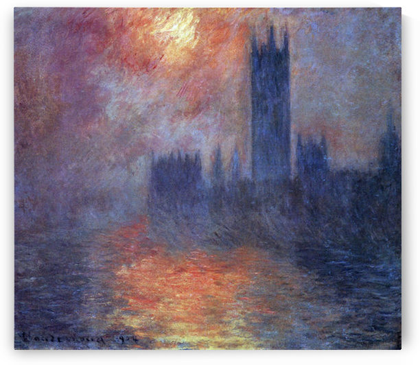 The Houses of Parliament, Sunset by Monet by Monet
