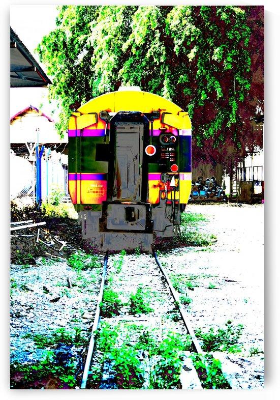 Railway carriage. by Alan Skau