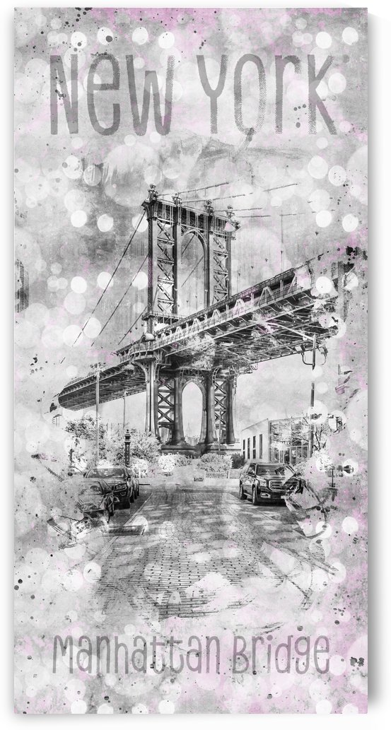 Graphic Art NEW YORK CITY Manhattan Bridge by Melanie Viola