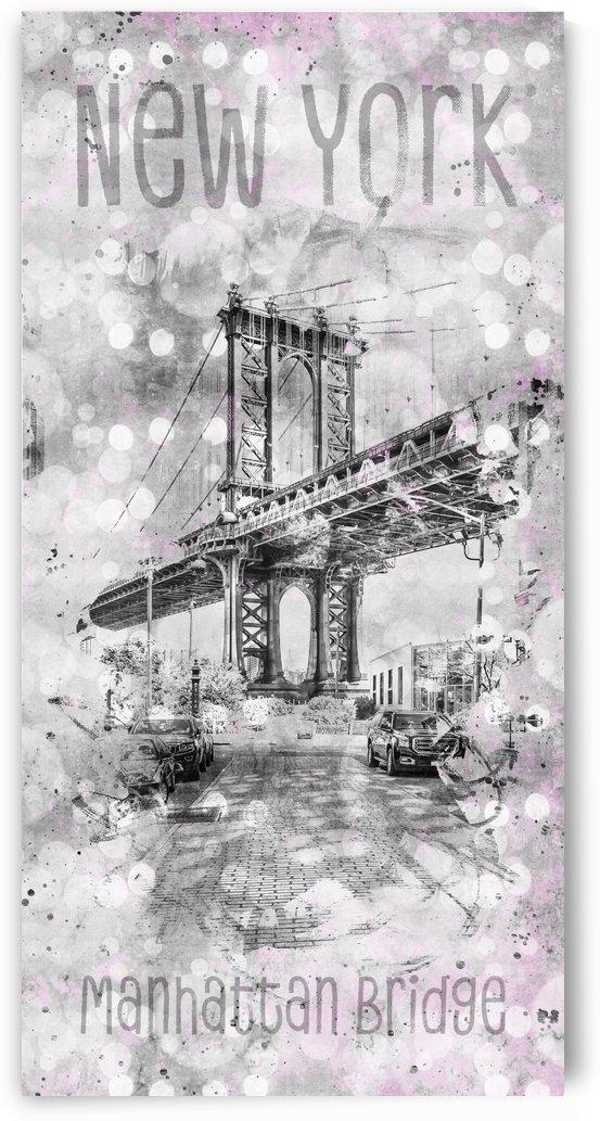 Graphic Art NEW YORK CITY Manhattan Bridge by Melanie Viola