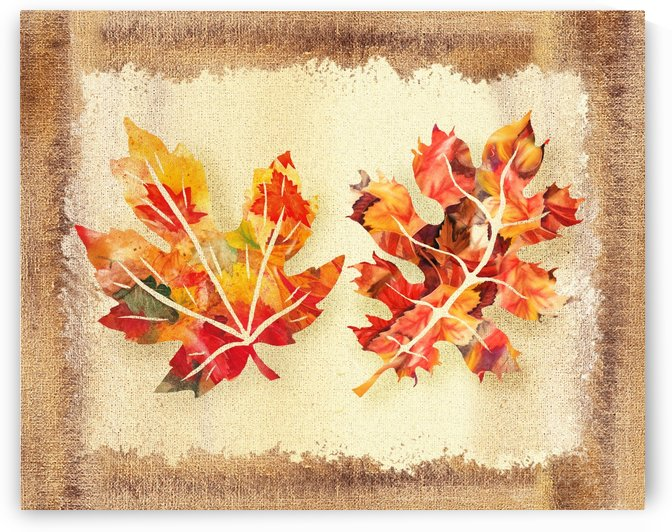 Fall Leaves Collage by Irina Sztukowski