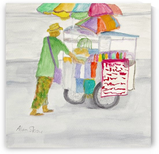 Street Vendor. by Alan Skau