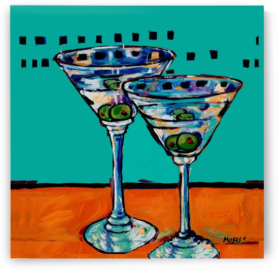 MARTINIS ON TURQUOISE  by Moses