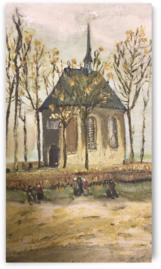 Vangogh reproduction,congregation leaving the reformed church by Amani