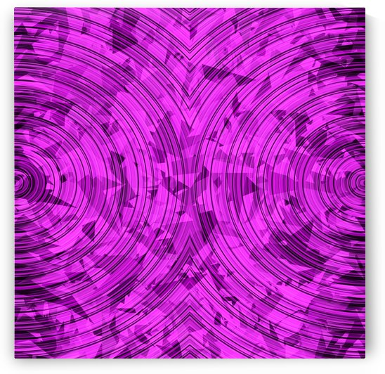 psychedelic geometric circle pattern abstract background in pink by TimmyLA