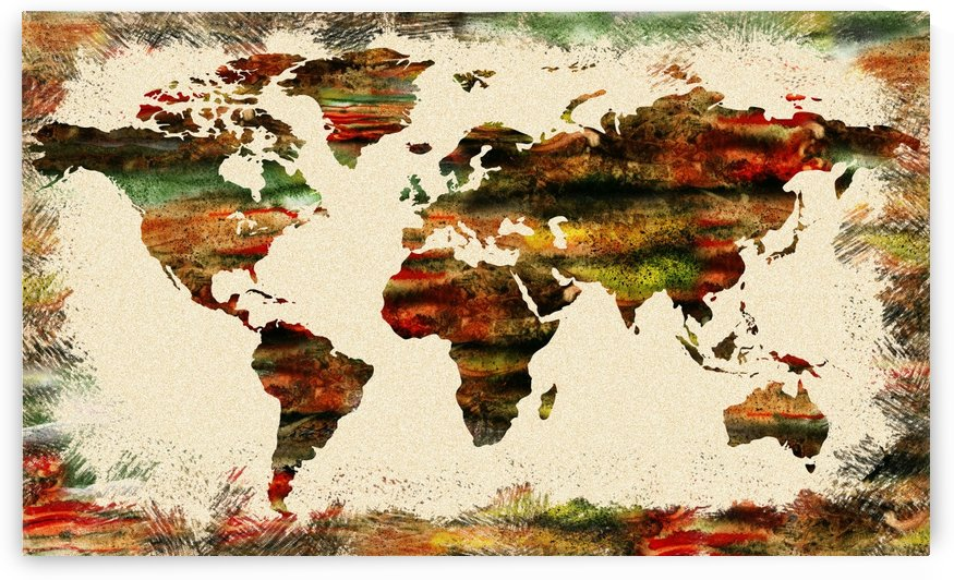 World Map Decorative Painting by Irina Sztukowski