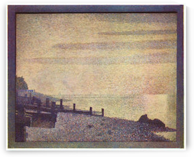 The mouth of the Seine at Honfleur, evening by Seurat by Seurat