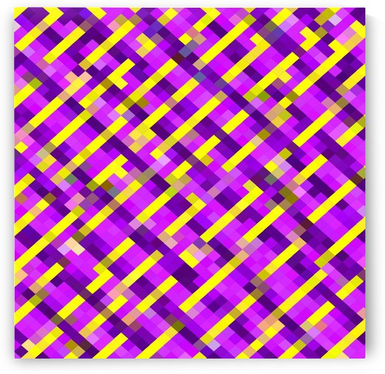 geometric pixel square pattern abstract background in pink purple yellow by TimmyLA