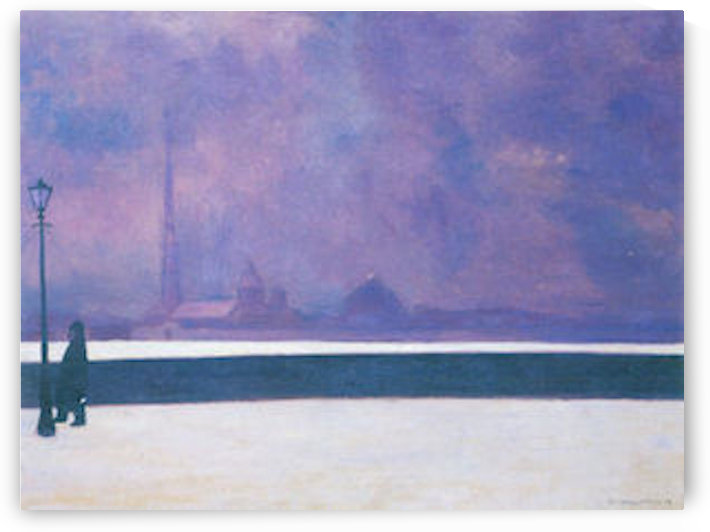 The night in light fog by Felix Vallotton by Felix Vallotton