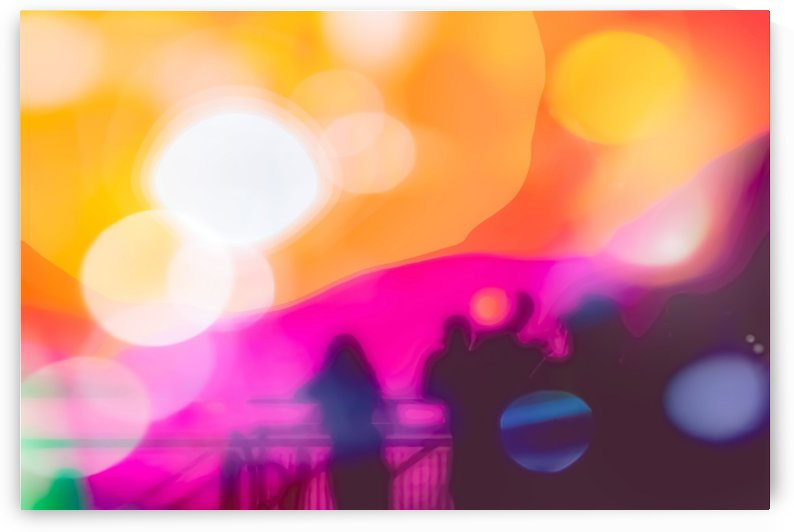 summer sunset sky with colorful bokeh light abstract background by TimmyLA