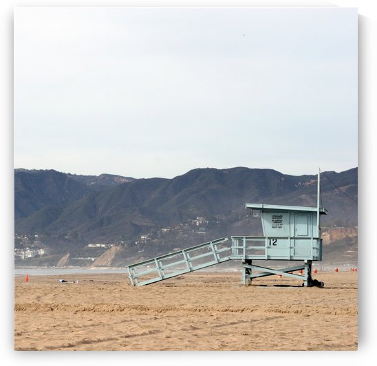 Lonely Lifeguard Tower at Beach by Hold Still Photography
