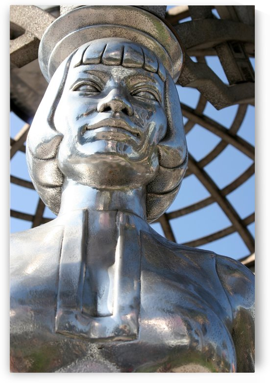 Silver Statue Face of Anna May Wong by Hold Still Photography