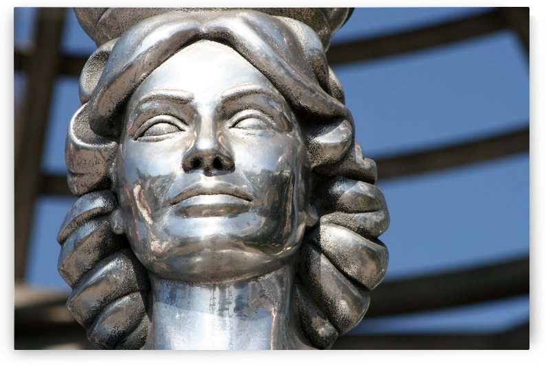 Silver Statue Face of Dorothy Dandridge by Hold Still Photography