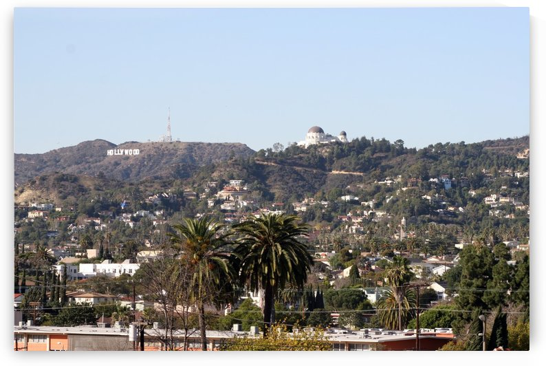 Hollywood Hills from Silver Lake by Hold Still Photography
