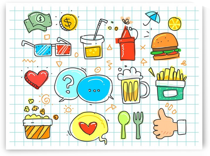 colorful doodle by Stock Photography