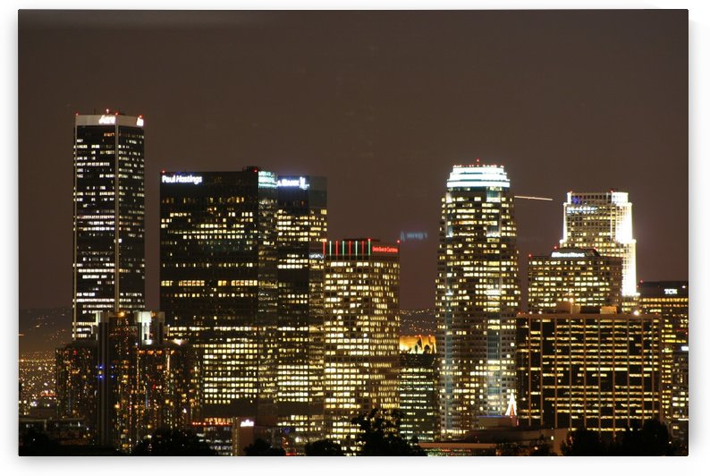 Los Angeles Skyline at Night #2 by Hold Still Photography