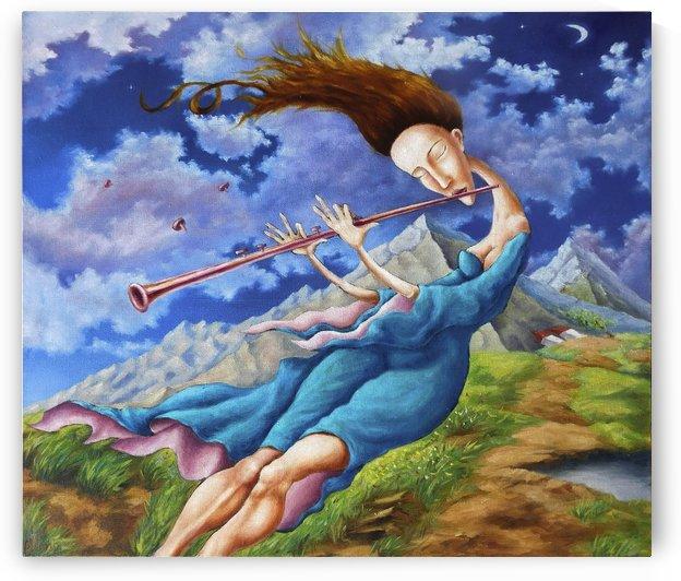 Windy Flutist by Andrey Polunin