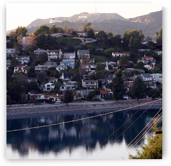 Silver Lake Reservoir with Griffith Observatory by Hold Still Photography