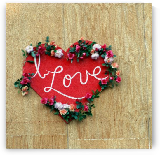 I love Heart - Square Canvas Print by Hold Still Photography