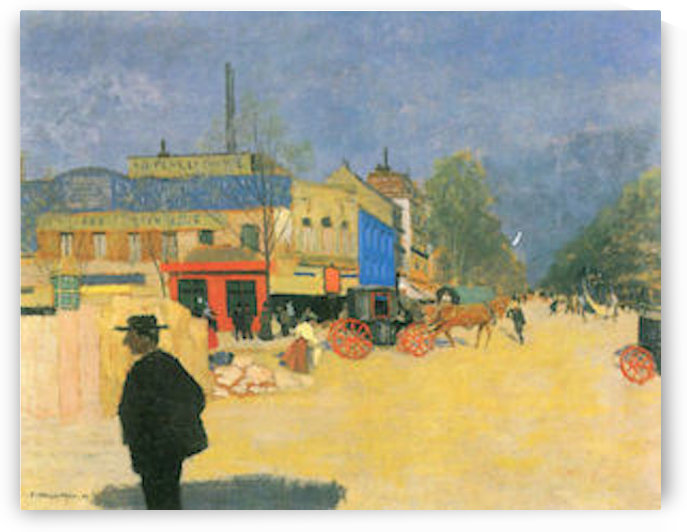The Place Clichy in Paris by Felix Vallotton by Felix Vallotton