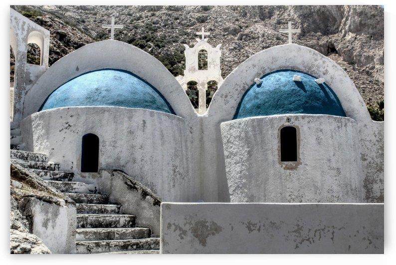 Small White Church in Santorini - Greece by Bentivoglio