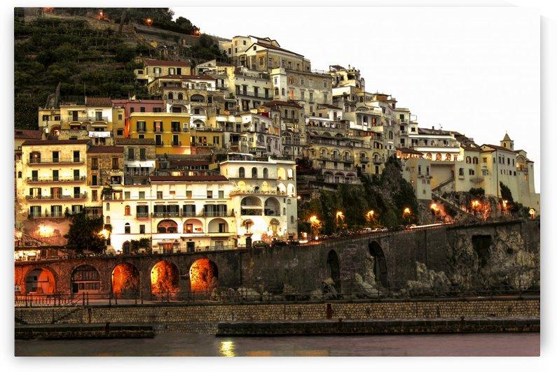 Amalfi Village  Landscape - Italy by Bentivoglio