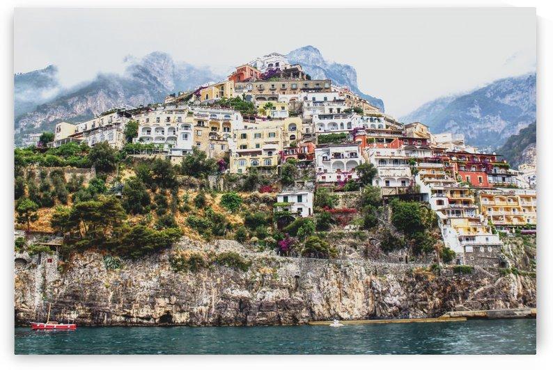 Positano Village Landscape - Italy by Bentivoglio Photography