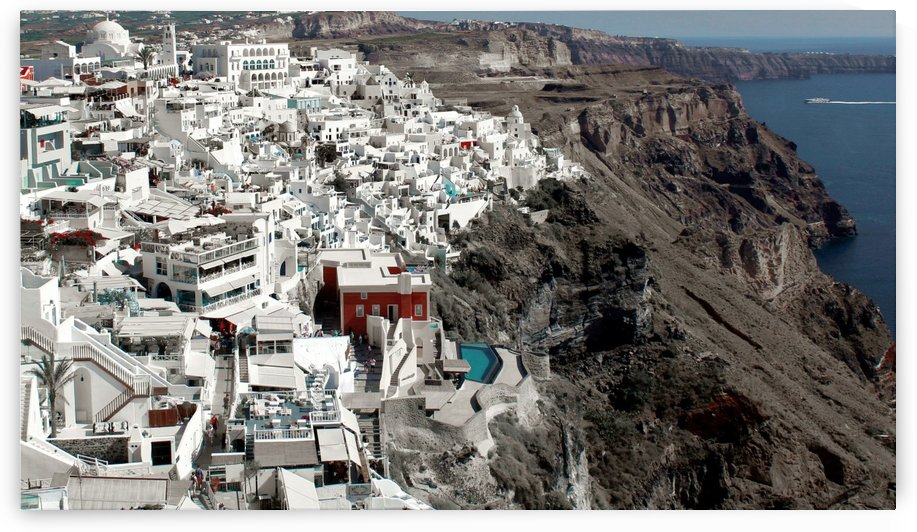 Amazing Santorini Landscape by Alessandro Ricardo Bentivoglio Uva